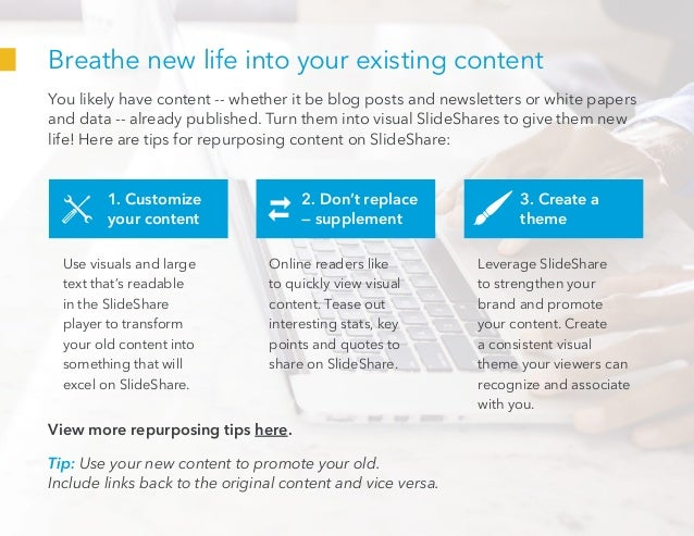 Breathe new life into your existing content You likely have content -- whether it be blog posts and newsletters or white p...