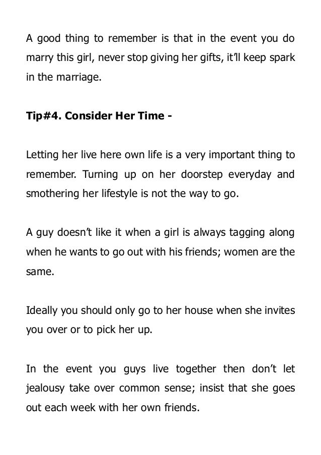 Ways To Make A Girl Love You