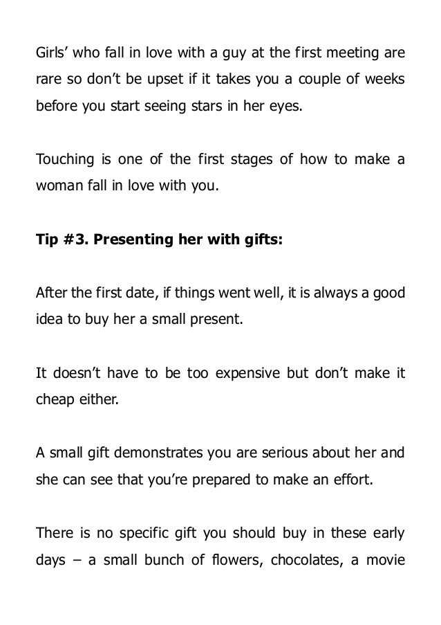 How To Make Women Fall In Love