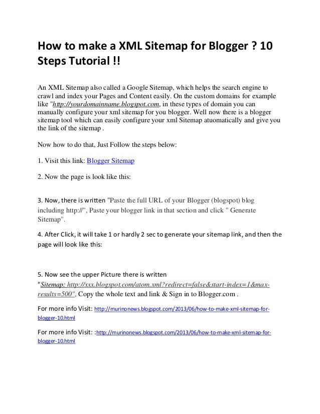 how to make a xml sitemap for blogger 10 steps tutorial