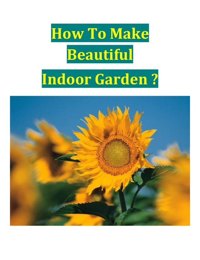 How To Make Beautiful Indoor Garden