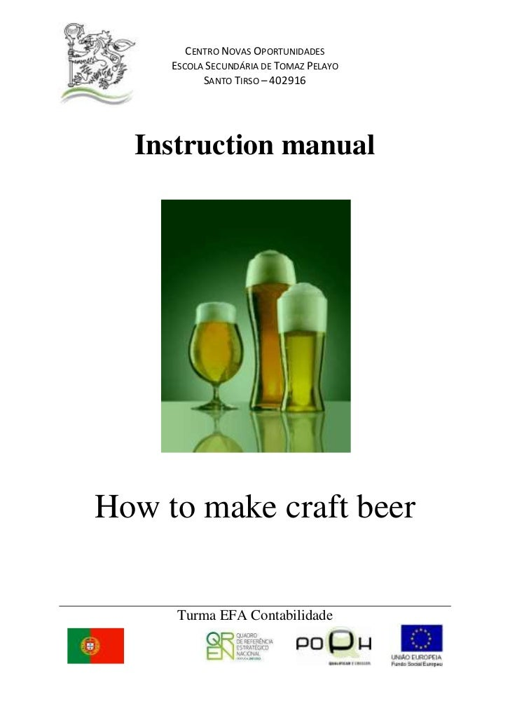 Instruction manual<br />How to make craft beer<br />Index:<br />-Introduction<br />-Necessary equipment<br />-Necessary in...