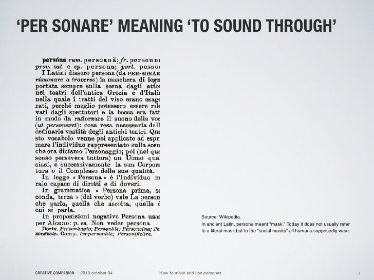 'PER SONARE' MEANING 'TO SOUND THROUGH'                                                                Source: Wikipedia. ...