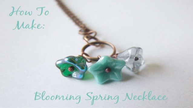 How To Make: Blooming Spring Necklace