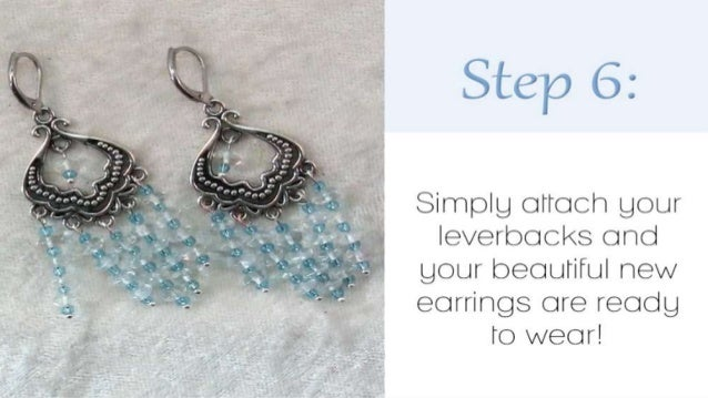 How to make blue chandelier earrings diy jewelry making tutorial 8 mozeypictures Images