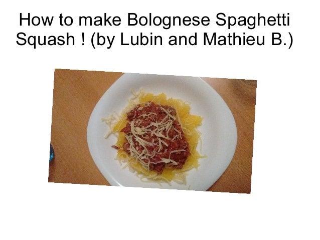 how to prepare spaghetti bolognaise