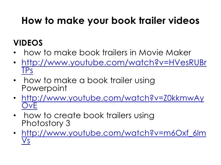 How to make a book trailer using movie maker — photo 2