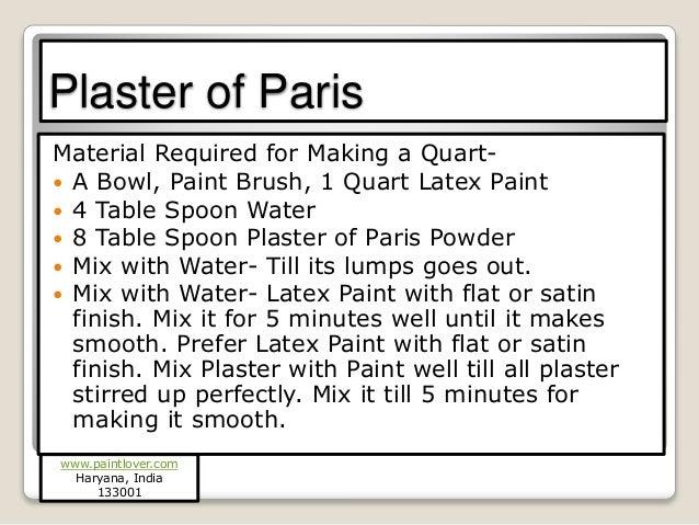 How To Make Chalk Paint - Plaster of paris chalk paint