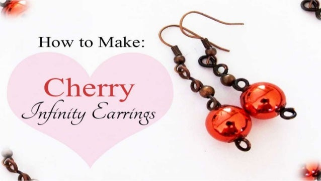 How to Make: Cherry Infinity Earrings