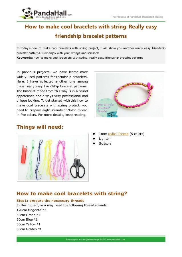cute friendship bracelet patterns
