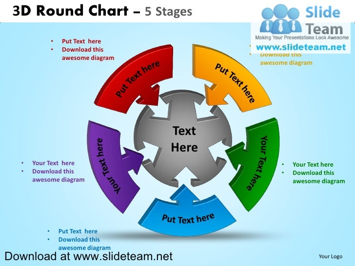 3D Round Chart 5 Stages O Put Text Here Download