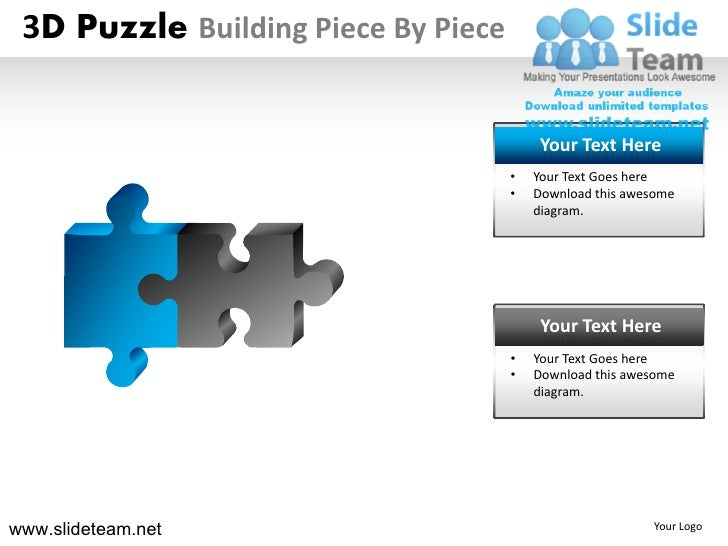 How to make create 3d puzzle building piece by powerpoint for 3d building creator