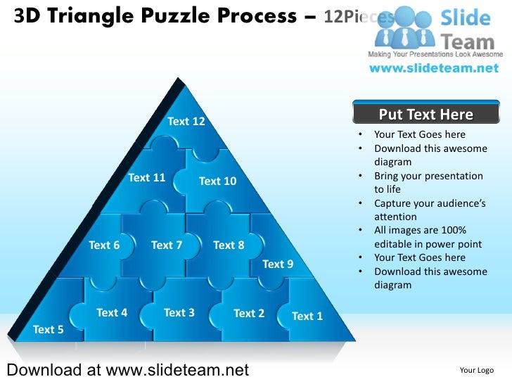 2 3D Triangle Puzzle Process 12Pieces
