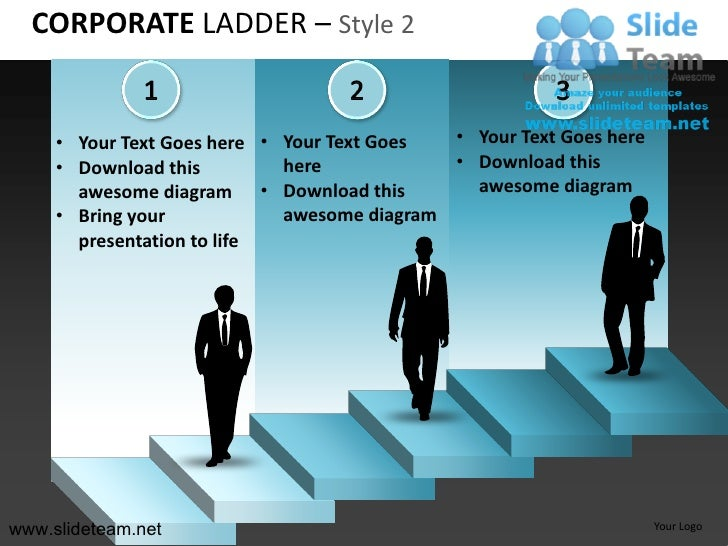 How to make create business corporate ladder design 2 powerpoint pres…