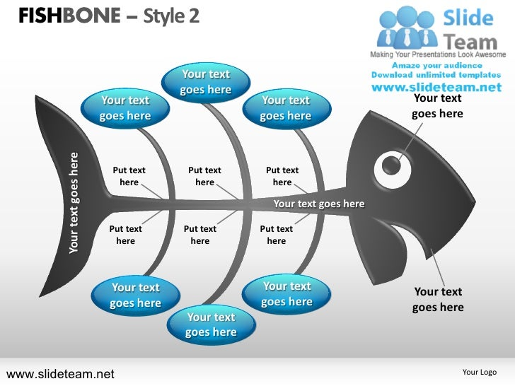 FISHBONE – Style 2                                            Your text                                            goes he...