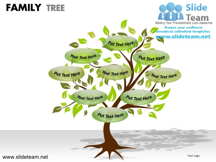 How To Make Create Geneology Family Tree Powerpoint Presentation Slid