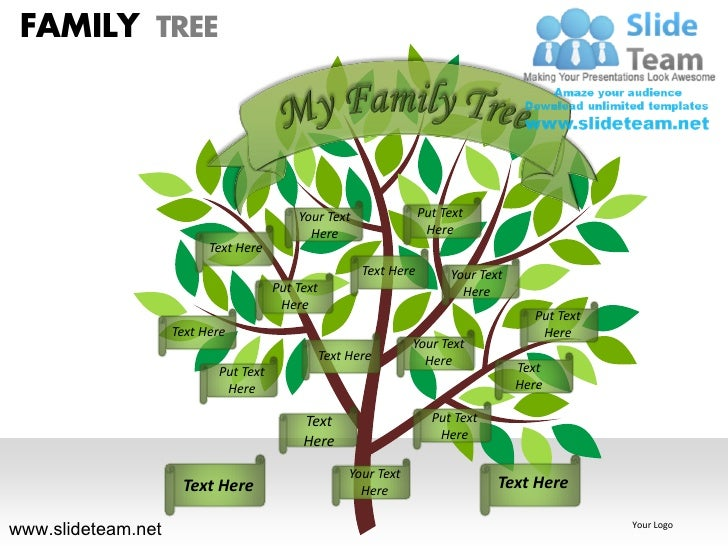 Family Tree Ppt Intoanysearchco - How to make family tree in powerpoint