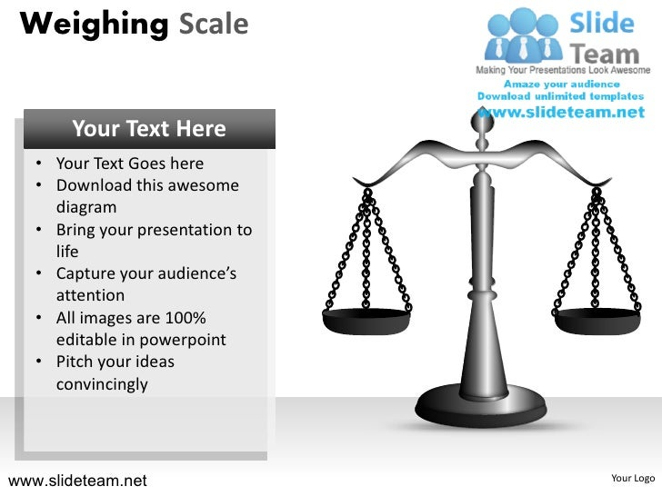 How to make create hanging weighing scale measure powerpoint