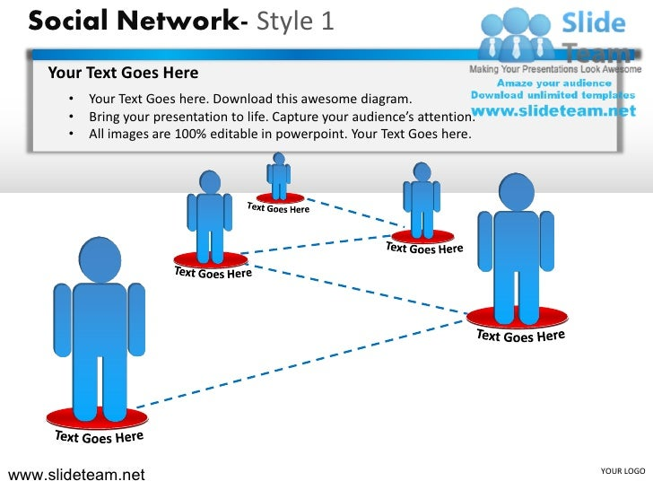 How To Make Create Social Network Style Design 1 Powerpoint Presentat