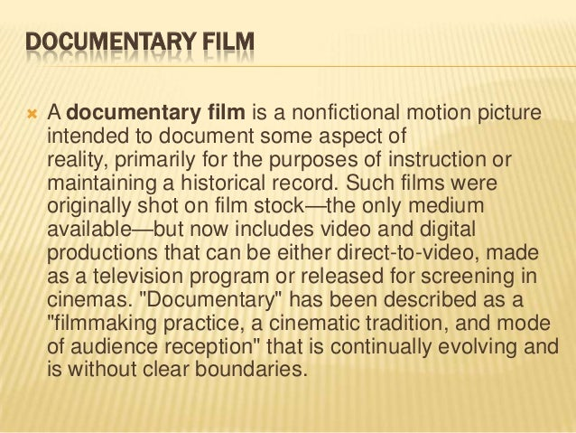 how to write a documentary