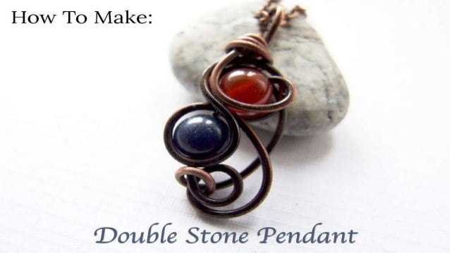 How to make double stone pendant diy jewelry making tutorial how to make double stone pendant mozeypictures Gallery