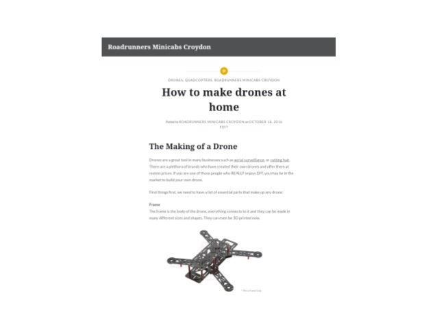 how to build a simple quadcopter at home