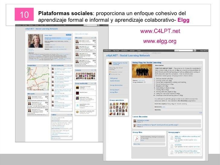 Plataformas sociales : proporciona un enfoque cohesivo del aprendizaje formal e informal y aprendizaje colaborativo-  Elgg