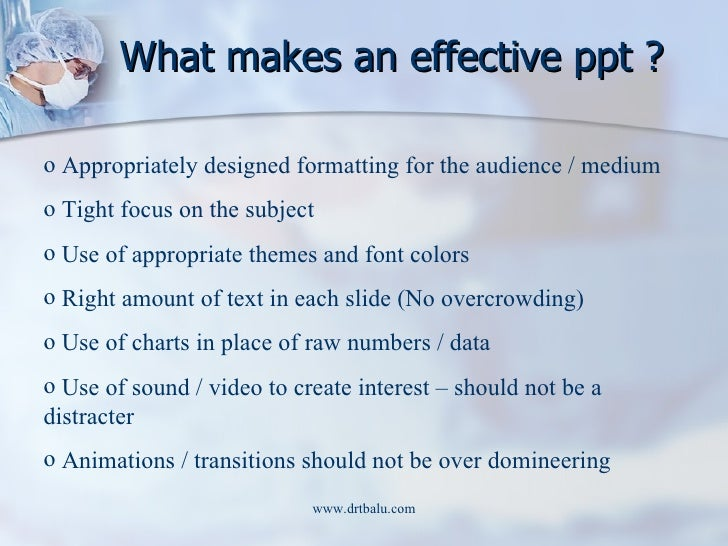 what makes a good powerpoint presentation