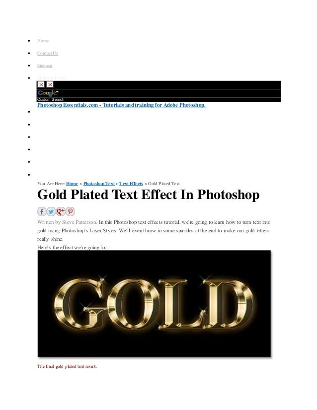 how to make gold in photoshop