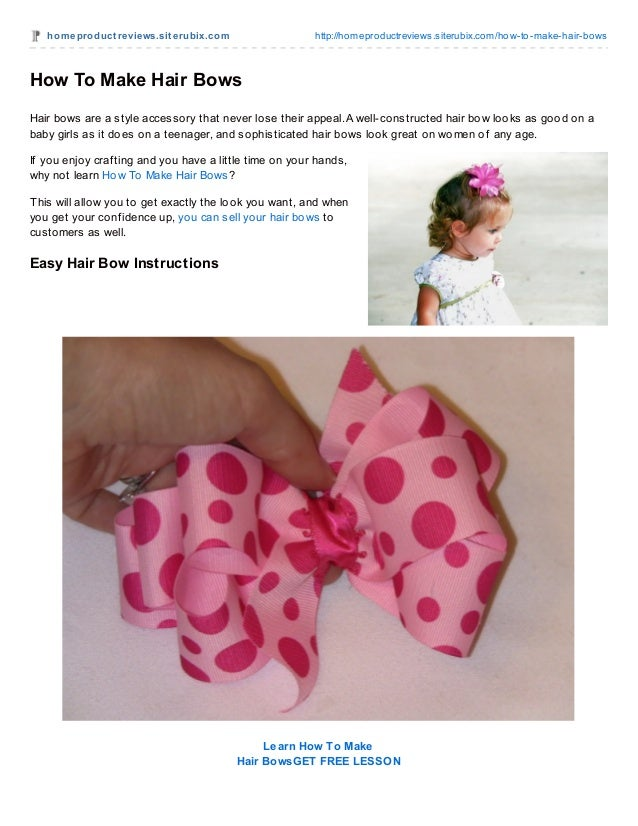 how to make a small hair bow out of ribbon