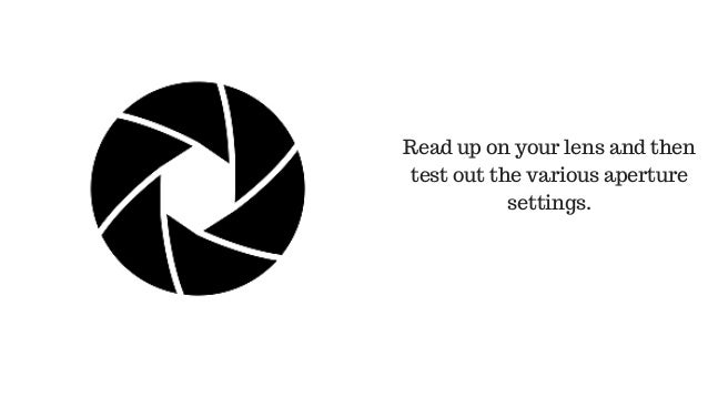 Read up on your lens and then test out the various aperture settings.