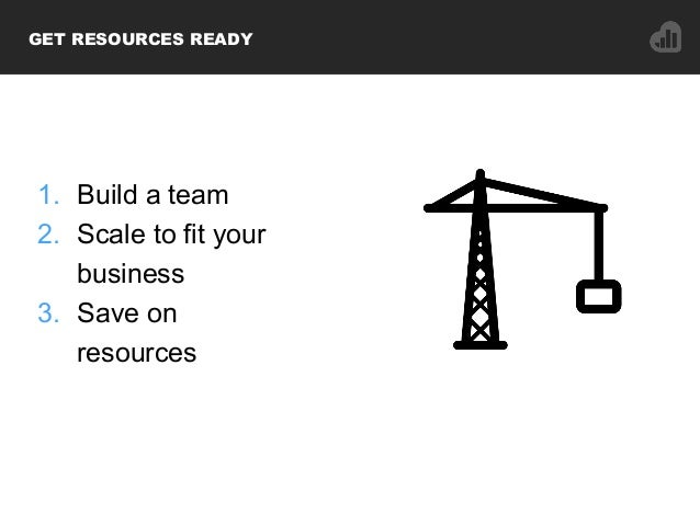 1. Build a team 2. Scale to fit your business 3. Save on resources GET RESOURCES READY