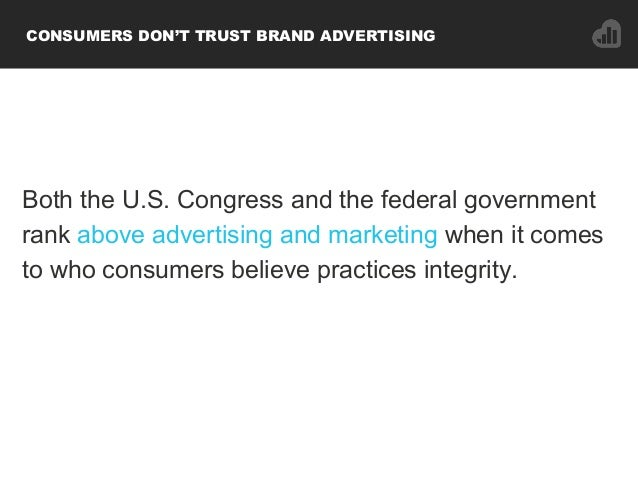Both the U.S. Congress and the federal government rank above advertising and marketing when it comes to who consumers beli...