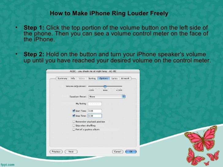 How to make i phone ringtone louder