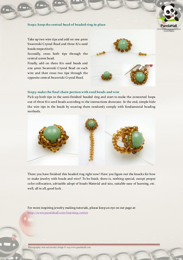 Beaded Crystal Ring Instructions