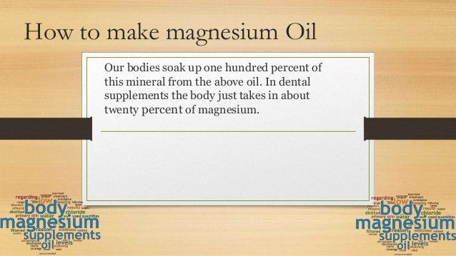 How to make magnesium oil Slide 2