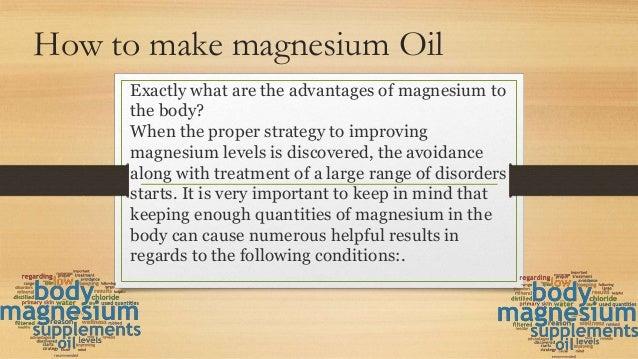 How to make magnesium oil Slide 3