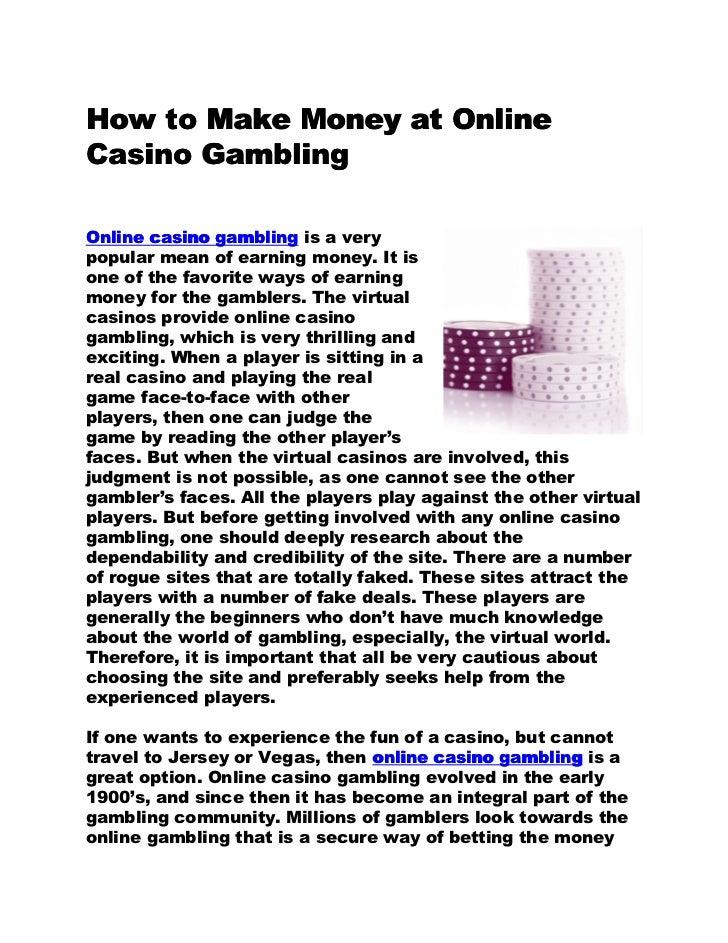 How to make money gambling like a professional gambler