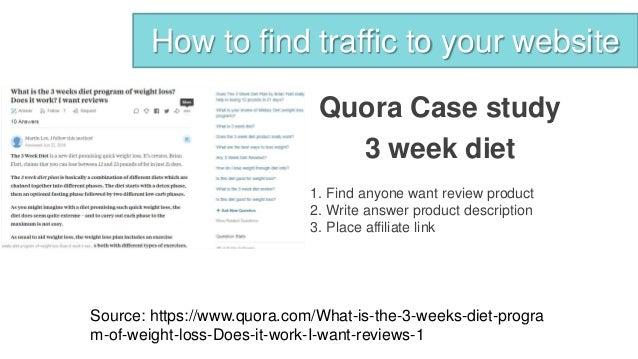 3 week diet affiliate program