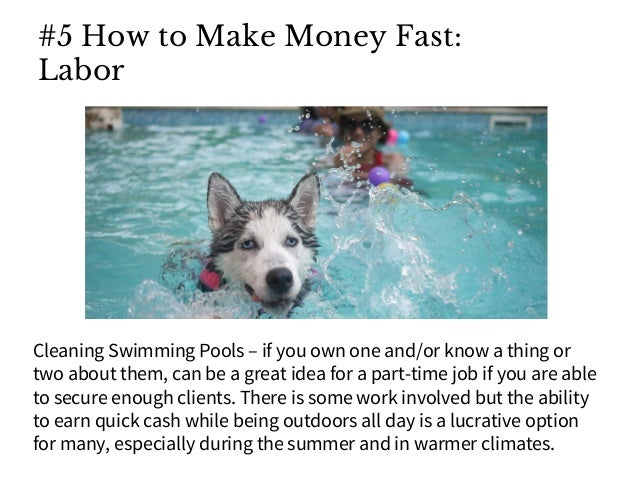 how to make money fast