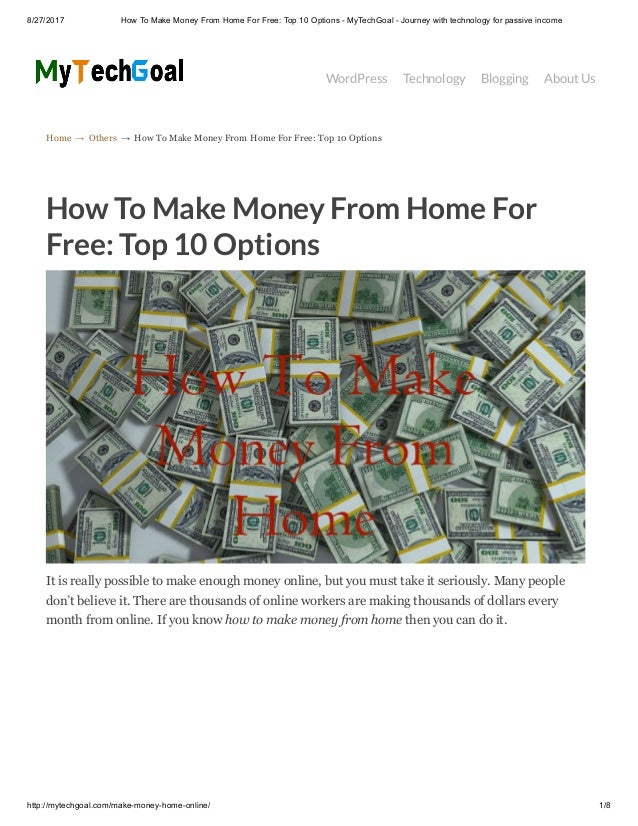How to make money from home for free top 10 options for Free money to build a house