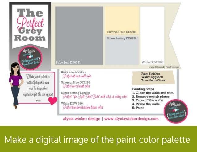 Make a digital image of the paint color palette