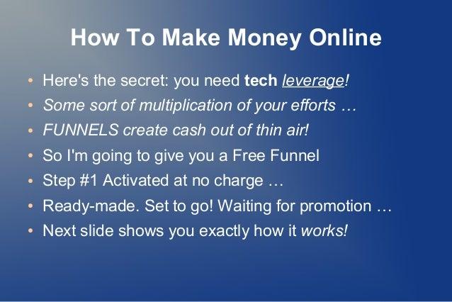 how to make money on net