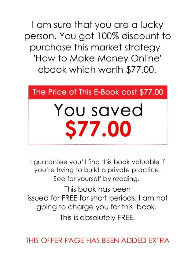 Overview Market Strategy How to Make Money Online secrete reveled. This will create a passive income from Home: Start Bein...