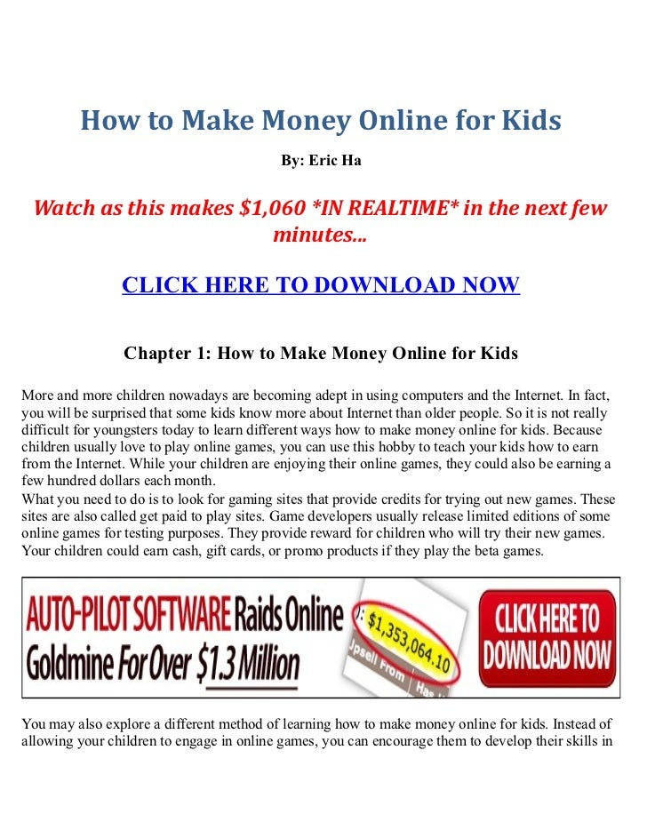 What Websites Can Help Kids to Make Money on the Internet?