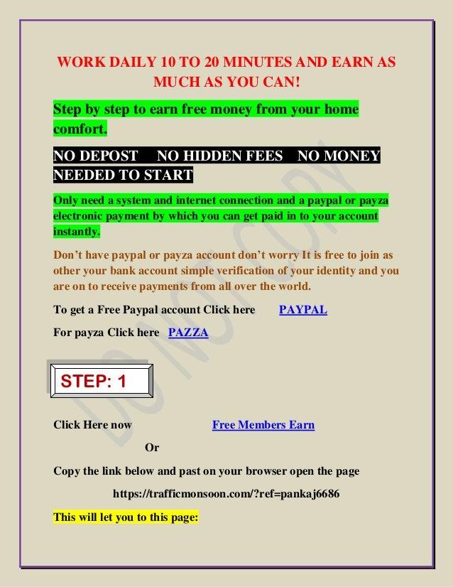 Free online work to earn money