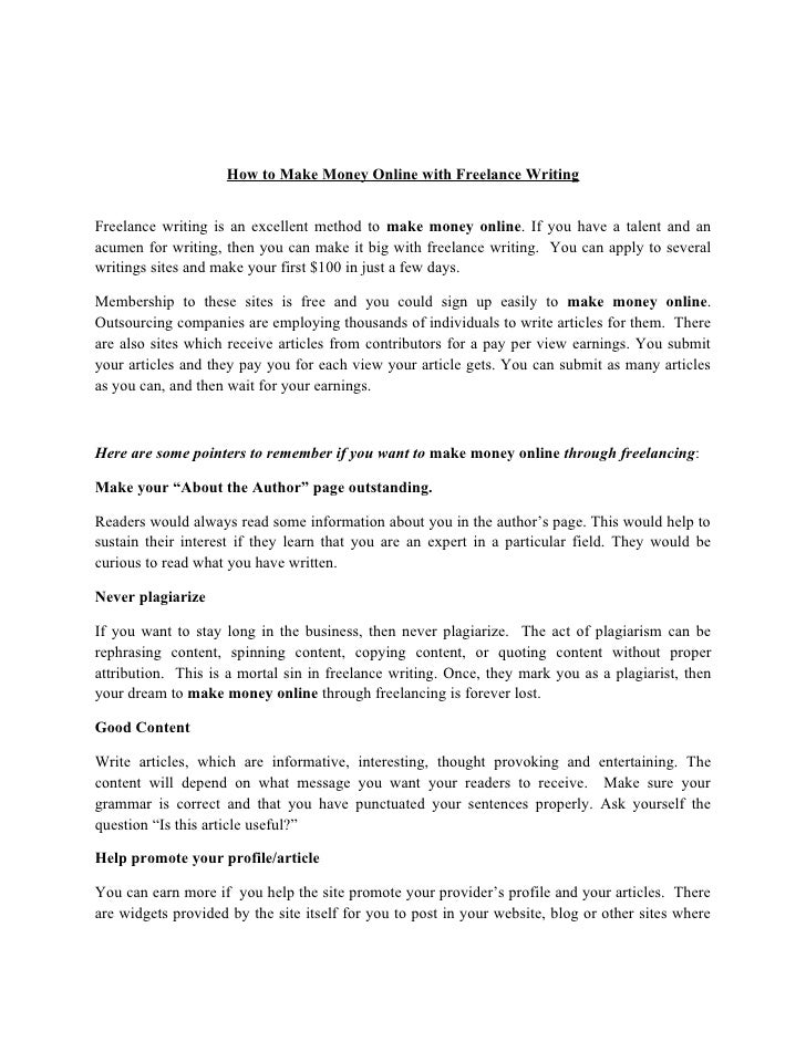 How to Make Money Online with Freelance Writing   Freelance writing is an excellent method to make money online. If you ha...