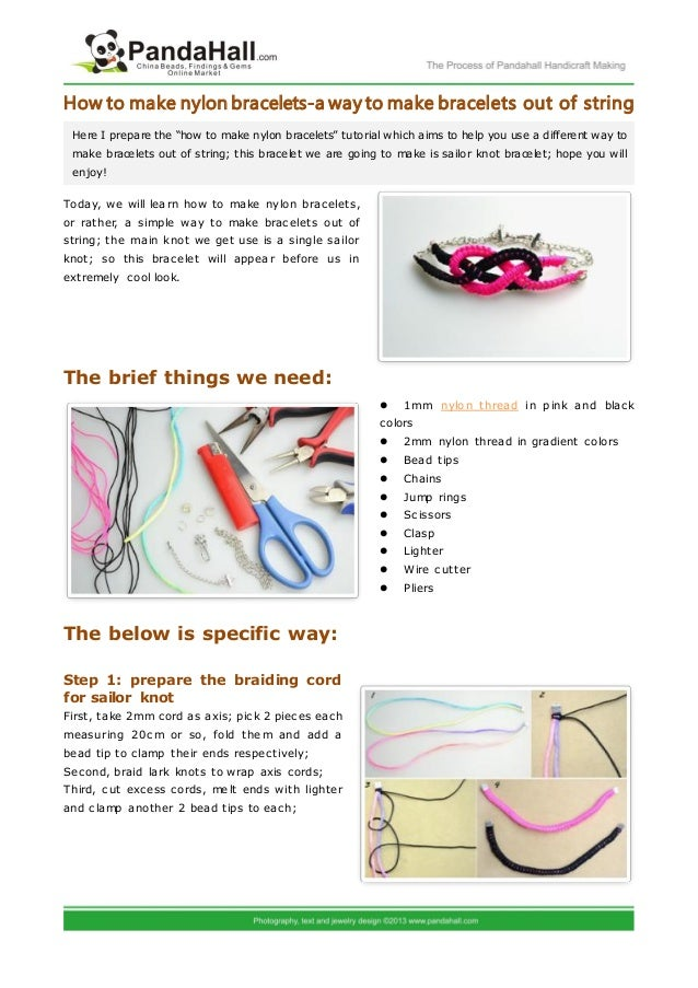 How To Make Nylon Bracelets