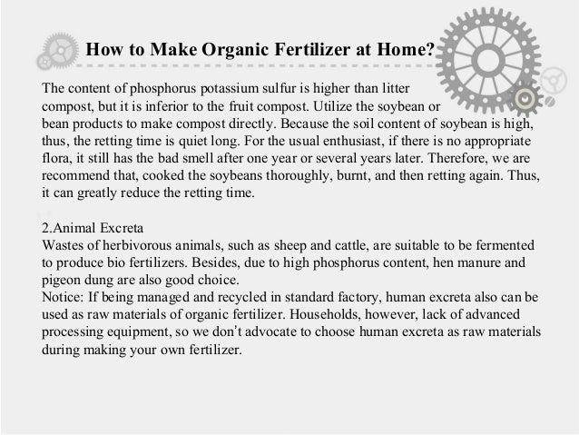 how to make urea fertilizer at home