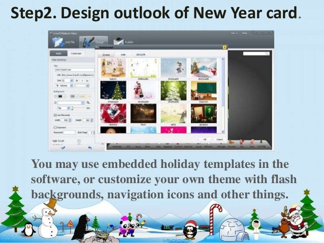 6 step2 design outlook of new year card